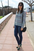 Primark necklace - Zara jeans - Mango bag - asos sunglasses - Zara jumper