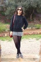 H&M skirt - Marypaz shoes - Primark bag - Ray Ban sunglasses - vintage jumper