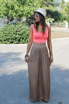 pull&bear skirt - Stradivarius top - Bershka sandals