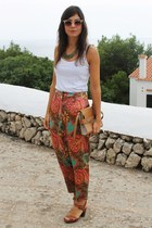 vintage pants - Zara bag - asos sunglasses - Massimo Dutti sandals