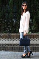 Promod shirt - Promod shirt - Zara bag - asos sunglasses - Marypaz heels