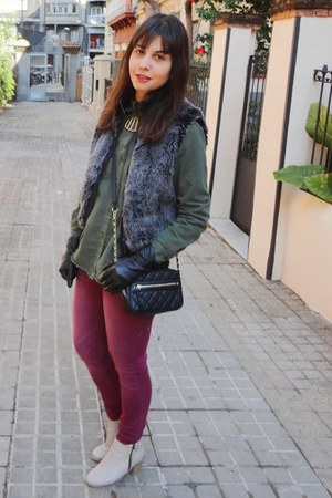 Primark vest - Coolway boots - suiteblanco jeans - Zara shirt - Primark bag