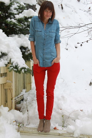 Dolce Vita boots - Pul and Bear jeans - Zara shirt