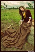 skirt - jacket - scarf
