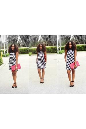 black polka dots chicnova dress - black UrbanOG heels