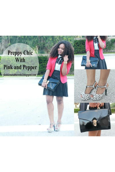 red True Envy blazer - black pink and pepper heels