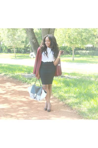 Cosmopolitan bag - vintage dorothy perkins blazer - Iris Basic skirt