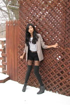 black Forever 21 sweater - simply vera wang boots - tan Forever 21 blazer