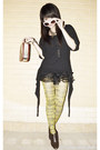Dark-brown-payless-boots-mustard-newspaper-romwe-tights