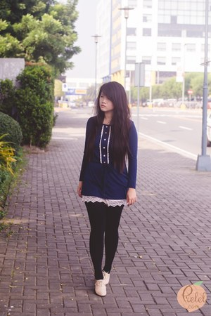 navy Rosegal dress