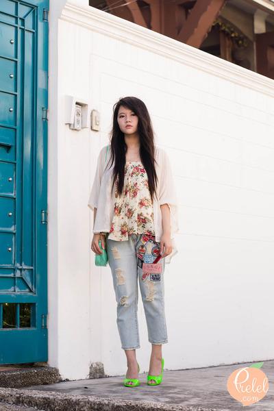light blue romwe jeans