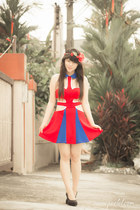 red romwe dress