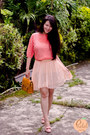 Salmon-clothing-rack-blouse-light-pink-dressgal-skirt-gold-newdress-belt