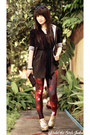 Black-landmark-blazer-gold-mart-of-china-boots-red-galaxy-romwe-leggings