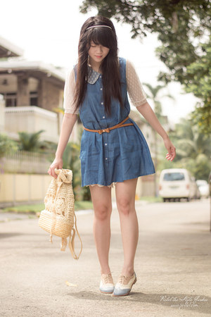 eggshell oxfords Shoes shoes - periwinkle denim Dress dress