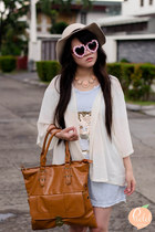 tawny Mart of China bag - pink zeroUV sunglasses