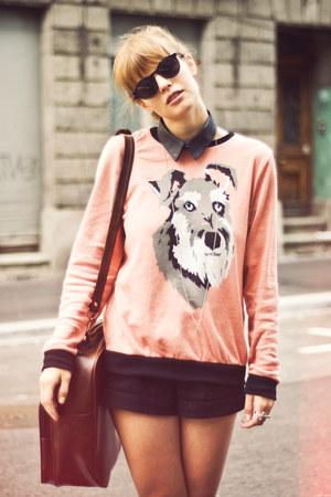 American Apparel shorts - vintage bag - H&M sunglasses - Topshop jumper