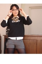 DKNY jacket - Betsey Johnson necklace - Target shirt - Charlotte Russe shorts -