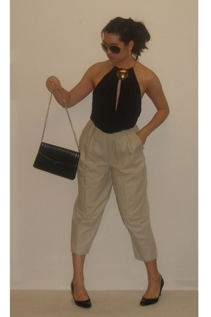 Forever21 top - vintage pants - shoes - purse - Miss Selfridges sunglasses
