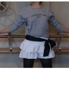 calvin klein sweater - Tommy Jeans skirt - sash accessories - Capezio stockings