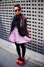 Black-studded-romwe-jacket-ruby-red-lips-bag