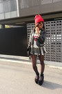 Black-diy-studs-romwe-jacket-red-studded-supermarket-hat