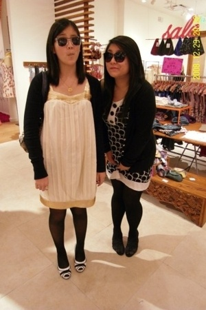 Old Navy dress - Zara sweater - flea market tights - colorado necklace - Kathy v