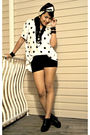 White-h-m-skirt-black-american-apparel-shorts-black-forever-21-shoes-forev