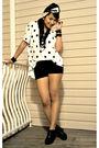 White-h-m-skirt-black-american-apparel-shorts-black-forever-21-shoes-forev