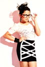 White-forever-21-top-black-forever-21-skirt-black-bakers-socks-black-forev