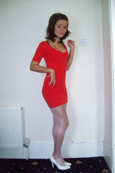cb5ddba05591 red Primark dress - pink Primark tights - white Primark shoes