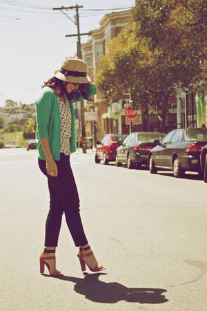 Forever 21 top - Zara heels - H&M pants - Gap cardigan