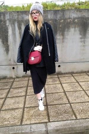 Zara jumper - Zara dress - Sheinside coat - H&M hat - Accessorize bag
