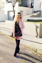 Sante boots - pull&bear jacket - H&M bag - Bershka bodysuit