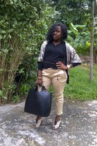 black tote Zara bag