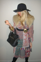 Primark dress - new look hat - bracelet - necklace - jacket - balenciaga accesso