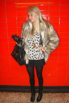 H&M coat - balenciaga purse - blouse - Miss Selfridge shorts - necklace