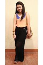 bucket bag from bangkok purse - cork Mendrez wedges - from bangkok pants - from