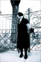 sheer skirt - sheer-flowy skirt - dark skirt - silent movie tights