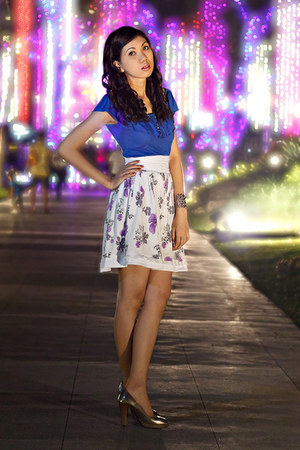 Forever 21 top - vintage skirt - Aldo shoes - Rockwell Bazaar bracelet