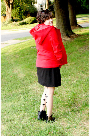 red Jack by BB Dakota jacket - black Miss Me boots - black made by me dress