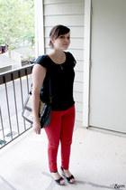 Old Navy wedges - Forever 21 jeans - Nila Anthony bag - Etsy necklace