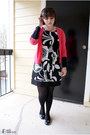 Black-wishes-wishes-wishes-dress-hot-pink-gap-sweater