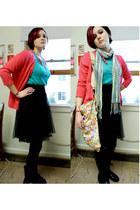 aquamarine Urban Outfitters scarf - yellow tokidoki bag - hot pink Urban Outfitt