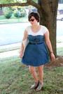 Sky-blue-kimchi-blue-dress-off-white-band-tote-bag-black-belt