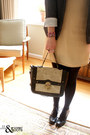 Black-nila-anthony-bag-beige-rare-dress-charcoal-gray-silence-noise-blazer