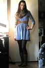 Blue-divided-dress-brown-urban-outfitters-belt-gold-its-all-in-the-bag-store