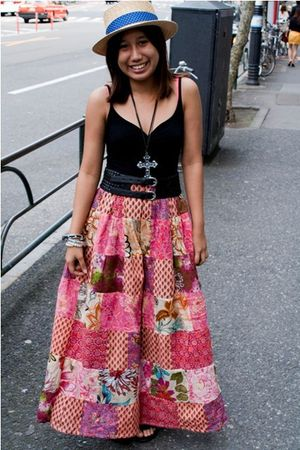 black H&M top - pink skirt - black Forever21 accessories