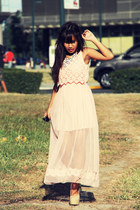 INDIE-GO dress - Gold Dot PH wedges - necklace Forever 21 accessories