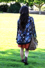 Navy-boca-kimono-free-people-cardigan-dark-brown-boots-burnt-orange-skirt